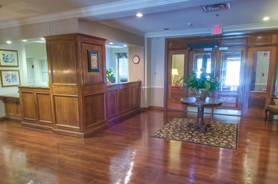 Lobby at Mansion at Waterford Assisted Living