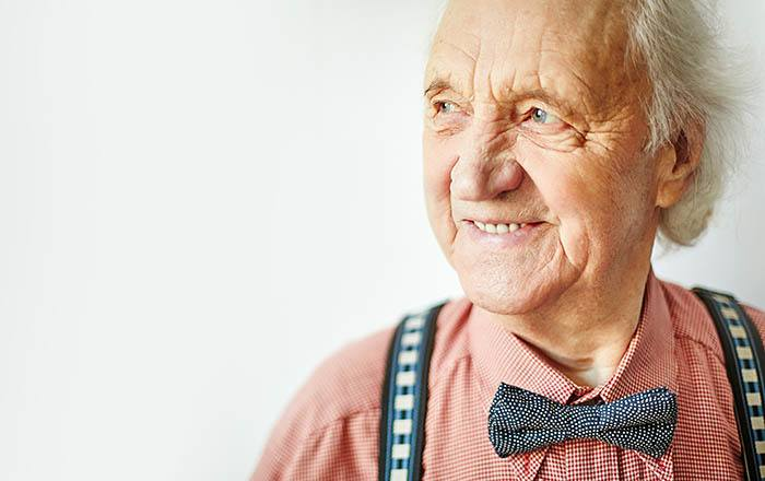 Gentleman enjoying Mansion at Waterford Assisted Living assisted living