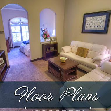 Assisted living floor plans at Mansion at Waterford Assisted Living