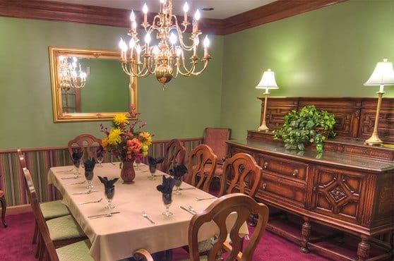 Private dining room at Mansion at Waterford Assisted Living in Oklahoma City