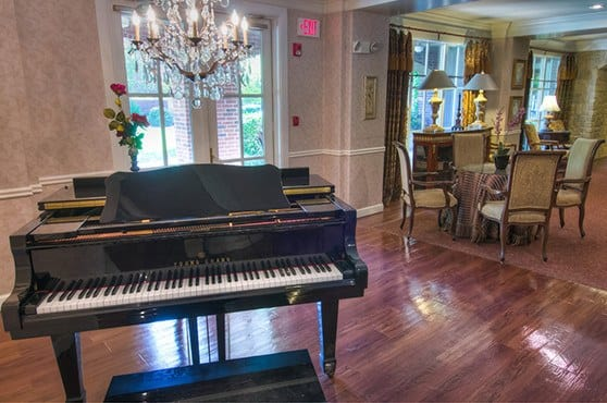 Piano at Mansion at Waterford Assisted Living