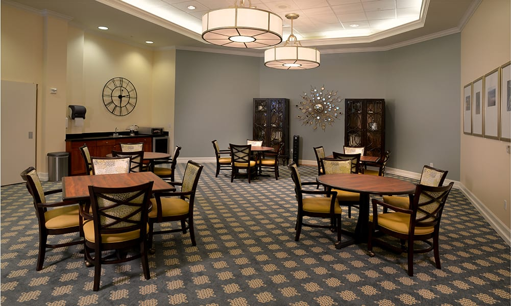 Maple Leaf Assisted Living & Memory Care Memory Support Dining Room in Seattle.
