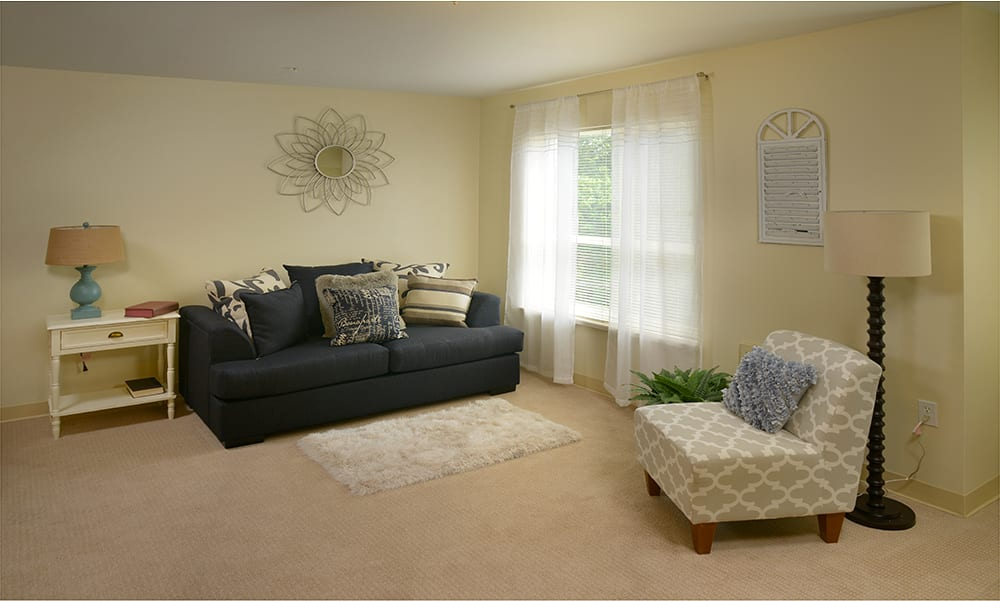 Living room at  Maple Leaf Assisted Living & Memory Care