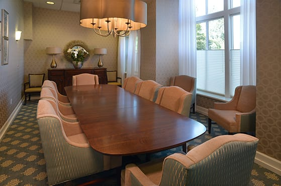 Maple Leaf Assisted Living & Memory Care private dining room