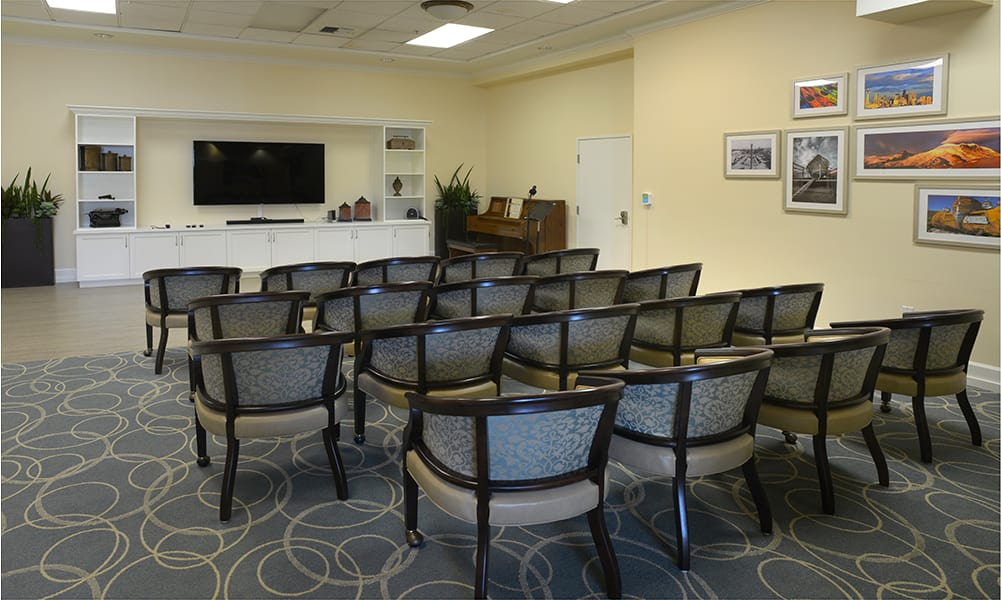 Theater at  Maple Leaf Assisted Living & Memory Care.
