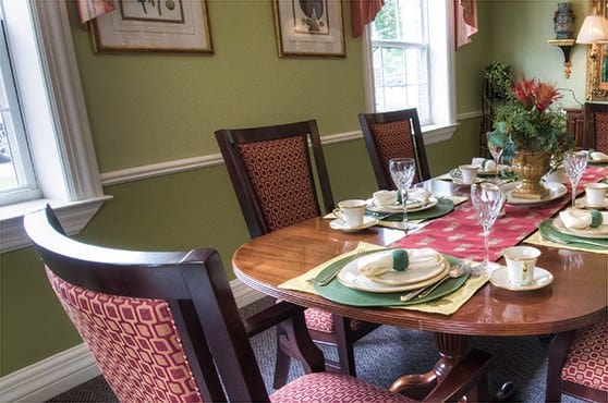 Private Dining at Pheasant Ridge Senior Living