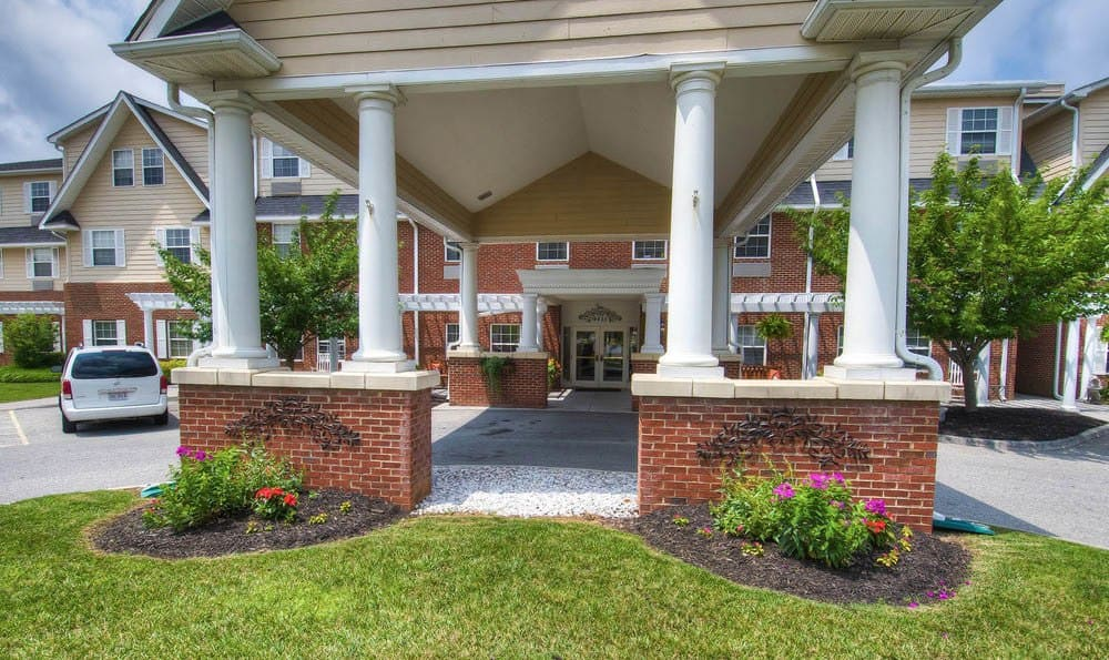 Pheasant Ridge Senior Living Front Entrance in Roanoke.