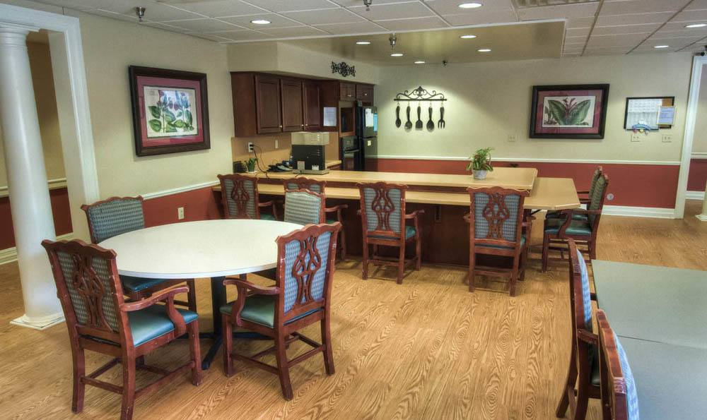 Pheasant Ridge Senior Living Coffee Nook in Roanoke.