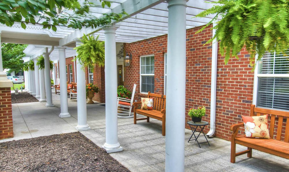 Outdoor Gazebo At Pheasant Ridge Senior Living in Roanoke.