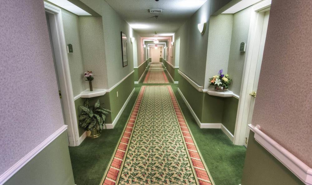 Pheasant Ridge Senior Living Interior Hallway in Roanoke.