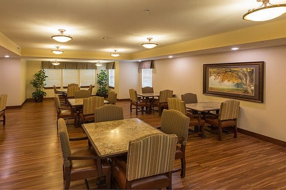 Dining room at Summit Senior Living in Salt Lake City