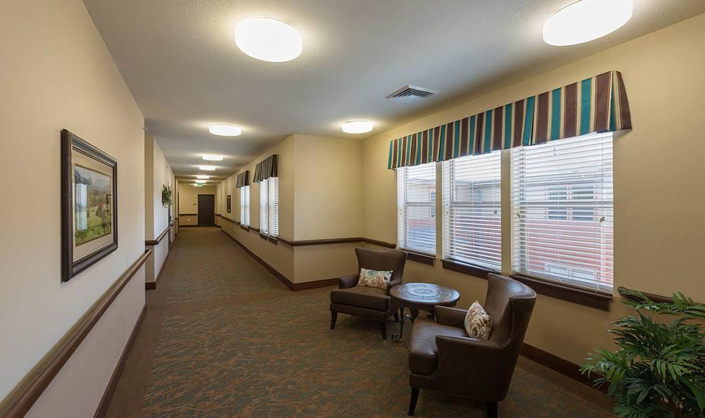 Interior hallway At Summit Senior Living.