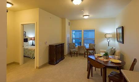 Model apartment at Summit Senior Living
