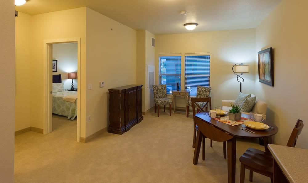 Apartment layout at Summit Senior Living in Salt Lake City.