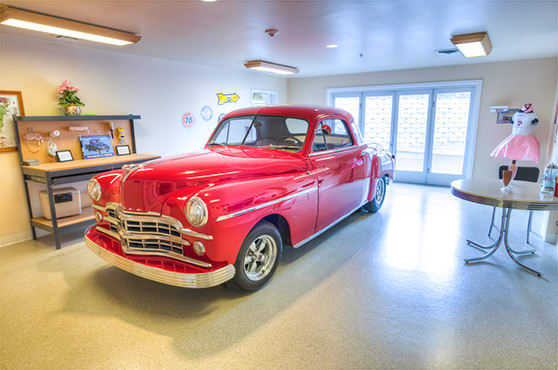 Classic car at Bishop Place Senior Living in Pullman