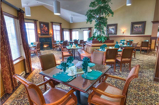 Dining room at Bishop Place Senior Living in Pullman