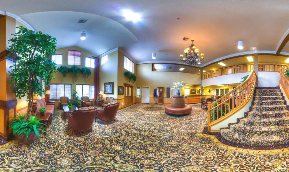Gorgeous Lobby at Bishop Place Senior Living in Pullman