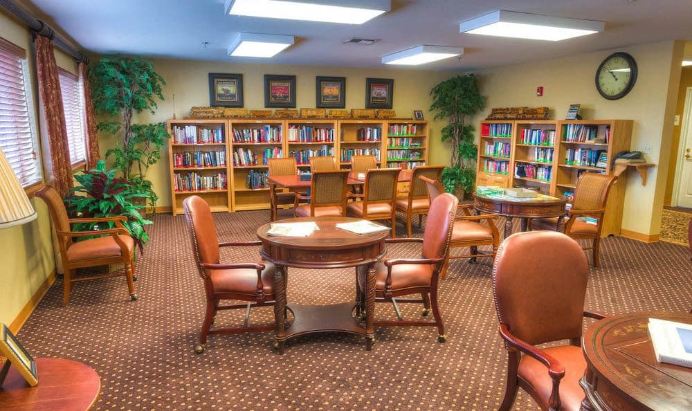 Library at Senior-Living in Pullman