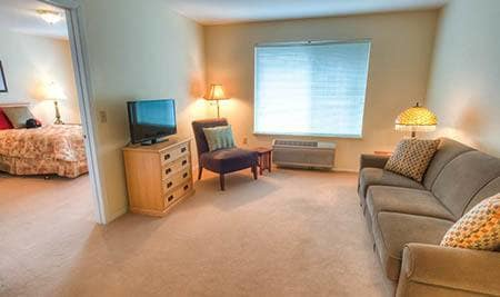 Interior of apartment at Bishop Place Senior Living in Pullman