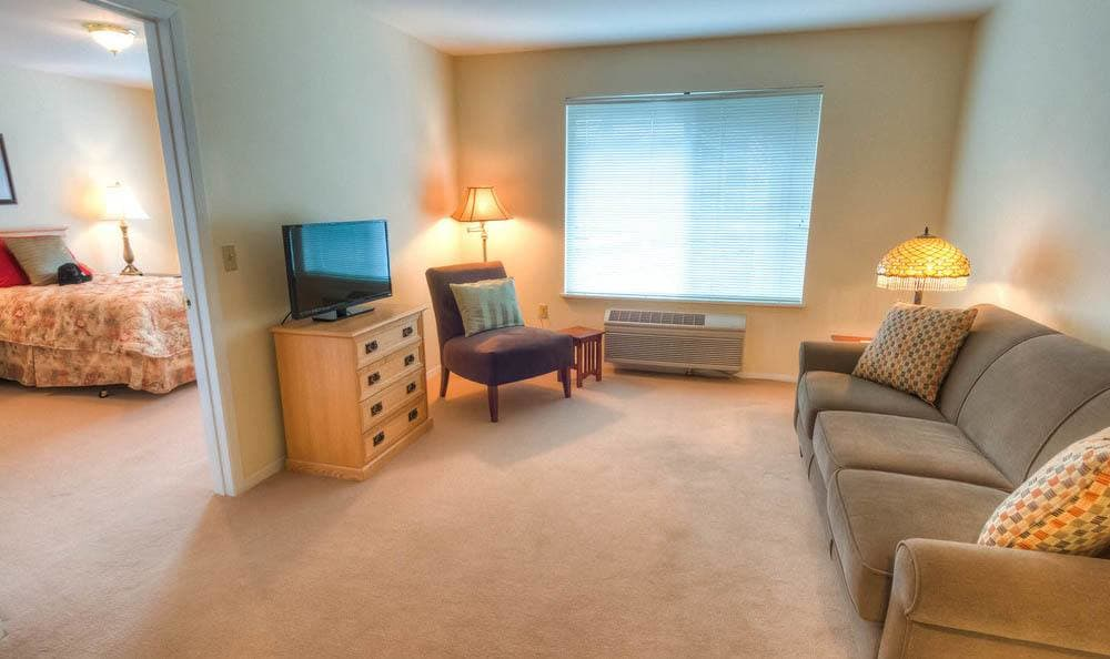 Apartment interior at Bishop Place Senior Living