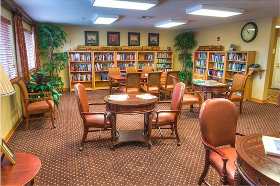 Library at Bishop Place Senior Living in Pullman