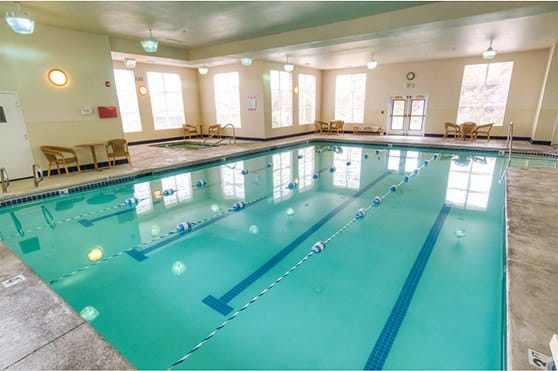 Pool at Bishop Place Senior Living in Pullman