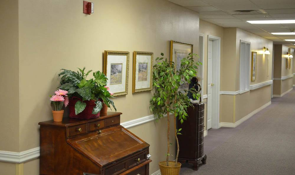 Hallway at Cascade Valley Senior Living in Arlington.