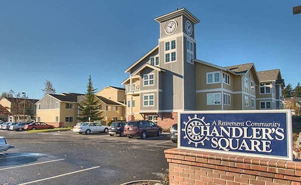 Exterior of Chandler's Square Retirement Community in Anacortes