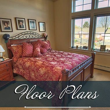 Assisted living floor plans at Chandler's Square Retirement Community