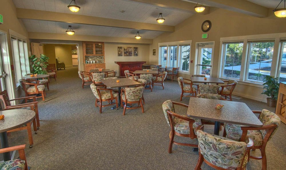 Dining area at Chandler's Square Retirement Community in Anacortes.