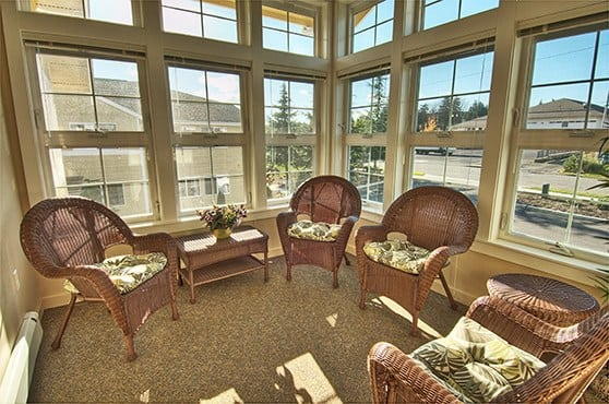 Sunroom at Chandler's Square Retirement Community in Anacortes