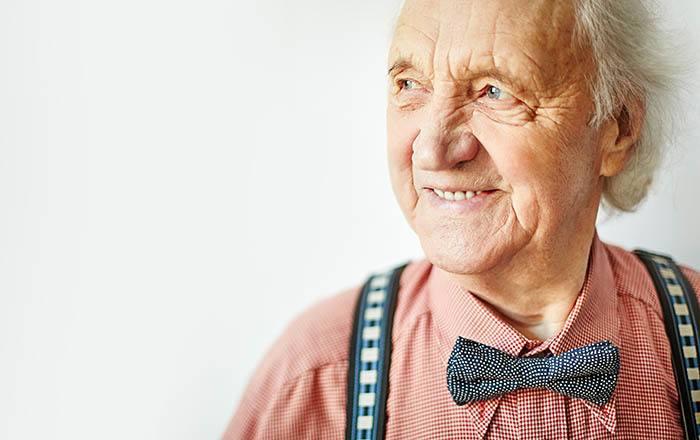 Gentleman enjoying Flagstone Senior Living assisted living