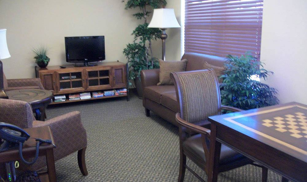 Flagstone Senior Living Game Room in The Dalles.