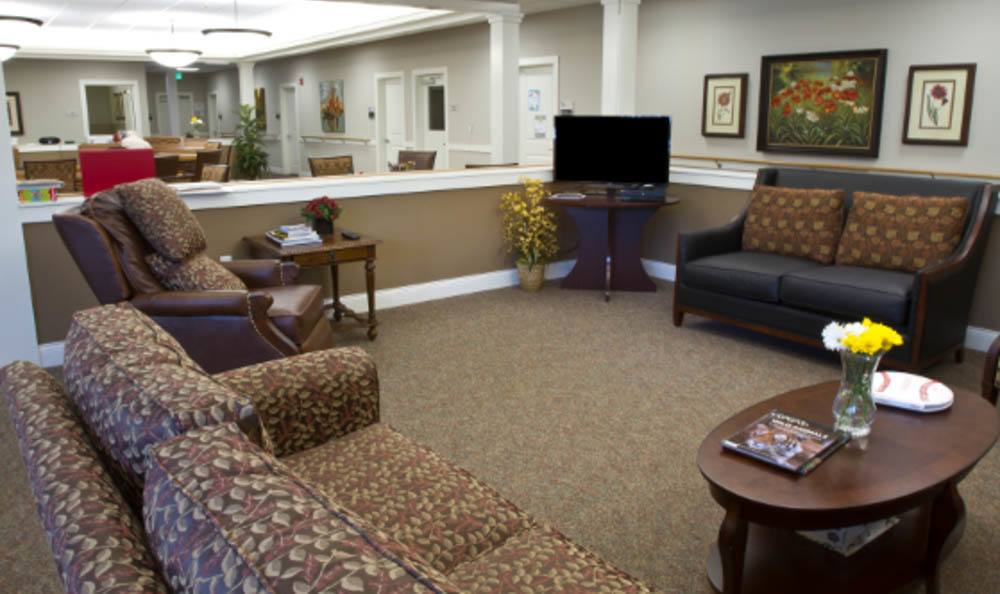 Sitting Room with TV at Lighthouse Memory Care