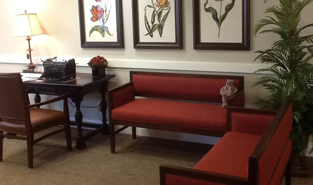 Seating area and Desk at Lighthouse Memory Care in Anacortes