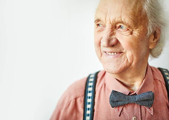 Gentleman enjoying McLoughlin Place Senior Living assisted living