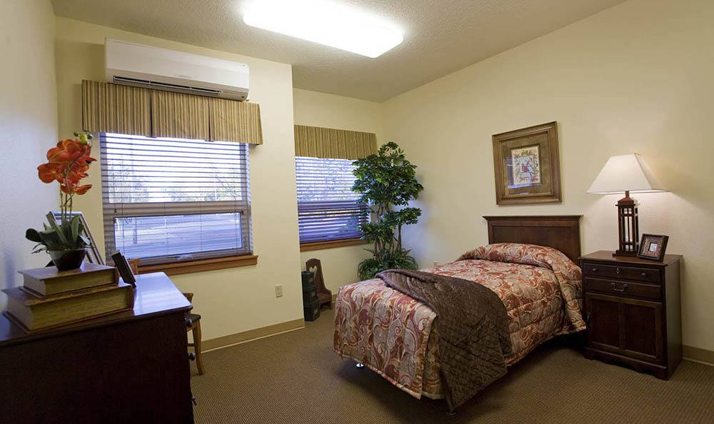 Large Bedroom at McLoughlin Place Senior Living in Oregon City