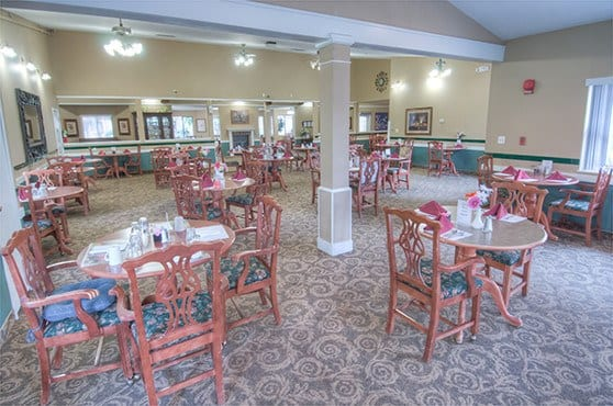 Dining room at Northglenn Heights Assisted Living
