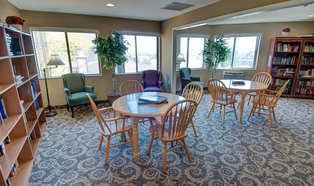 Northglenn Heights Assisted Living Community Library Room