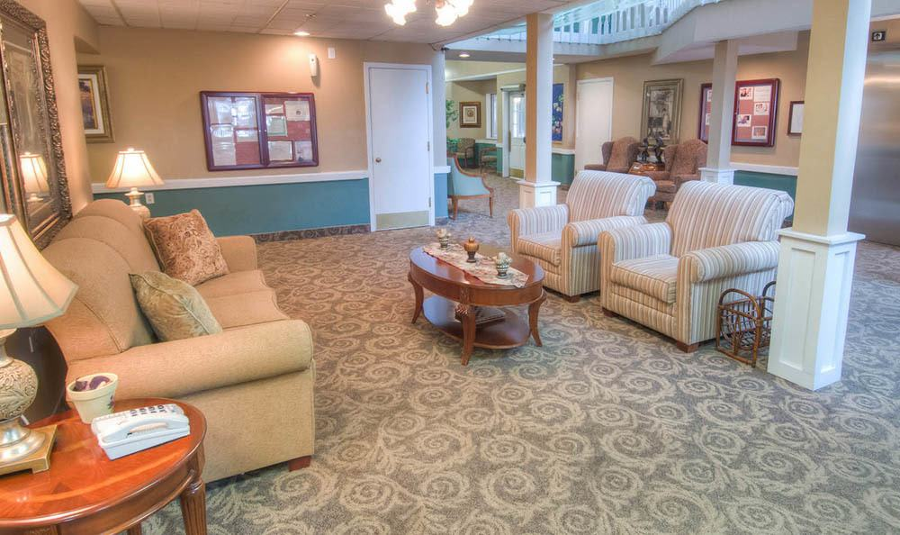Spacious Lobby At Northglenn Heights Assisted Living in Northglenn.