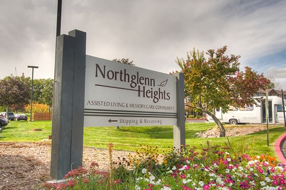 Sign at Northglenn Heights Assisted Living in Northglenn