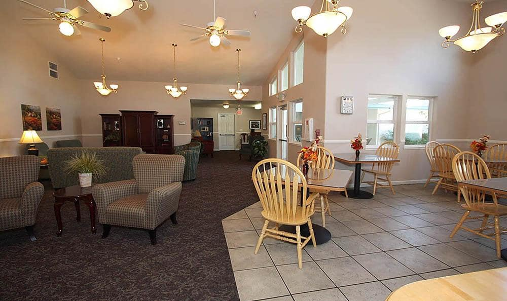 Lounge at Oak Terrace Memory Care