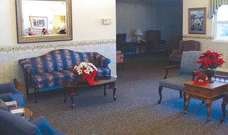 Oak Terrace Memory Care Living Room in Soulsbyville