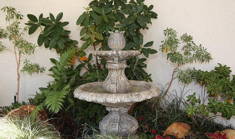 Beautiful Fountain at Oak Terrace Memory Care