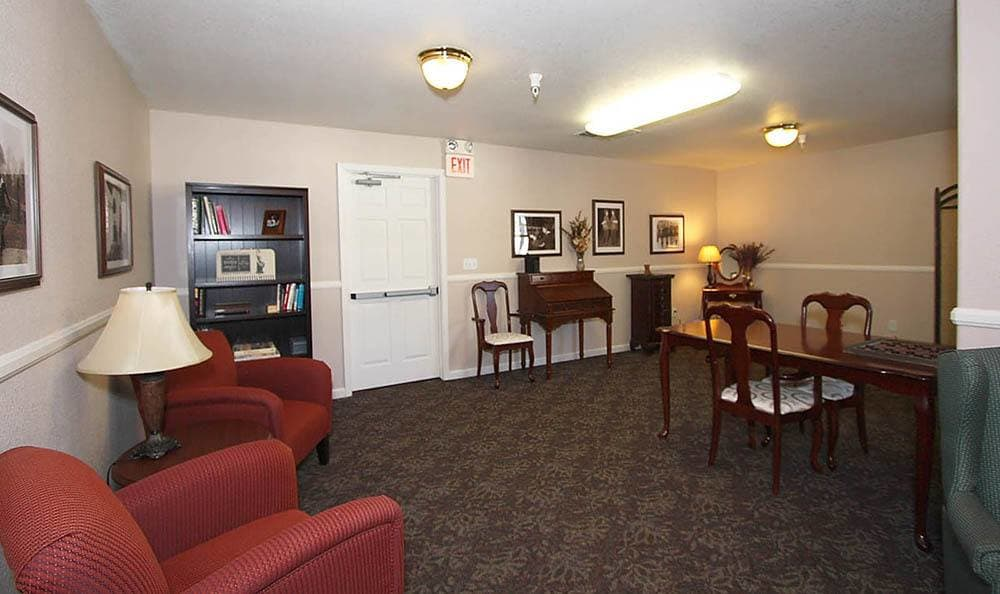 Game room at Senior-Living in