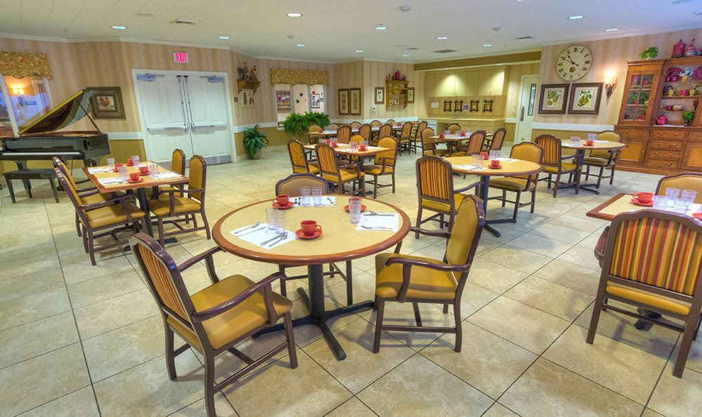 Dining area at Sierra Ridge Memory Care