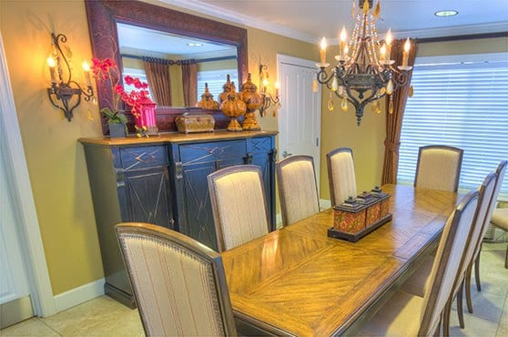Private dining room at Sierra Ridge Memory Care in Auburn
