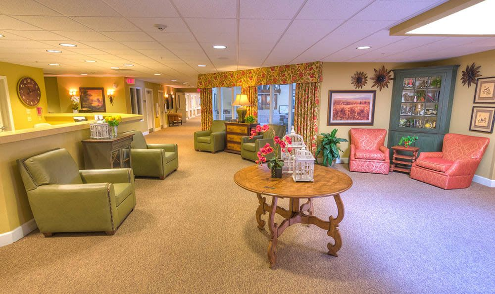 Bright Lobby at Sierra Ridge Memory Care in Auburn