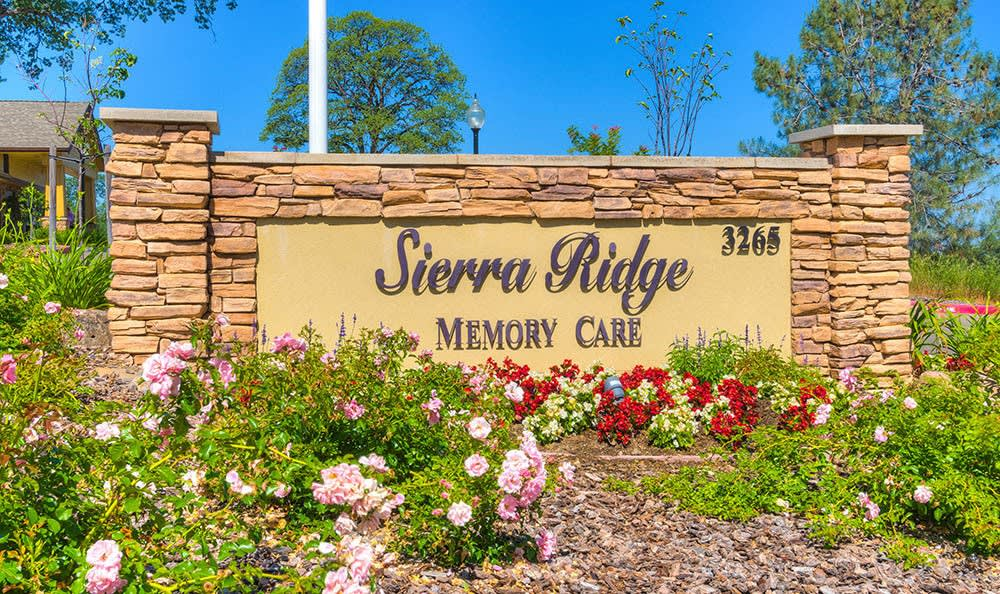 Front Entrance Sign at Sierra Ridge Memory Care in Auburn