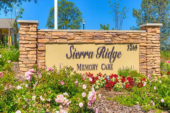 Sign at Sierra Ridge Memory Care in Auburn